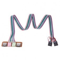 Computer Case Front Panel USB Audio Jacks Port Mic...