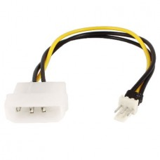 Power Adapter Cable 4 Pin Molex IDE to 3 Pin Mothe...