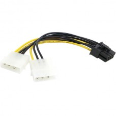 Dual Molex 4 to 8 Pin PCI-E Power Lead Cable for A...