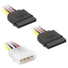4 Pin IDE Male Molex to Dual SATA Female HDD Power...