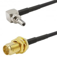 Jumper Cable CRC9 Male Right Angle to RG316 SMA Fe...