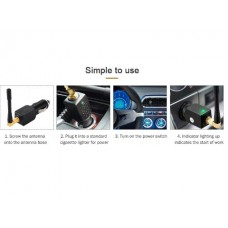 QUELIMA GPS Blocker Cigarette Lighter GPS Signal Jammer Professional Shield Tracking System