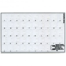 Oracal  Transparent Keyboard Stickers with White L...