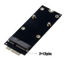 7+17 Pin mSATA SSD To SATA Adapter Card for 2012 MacBook Pro MacBook Pro MC976 A1425 A1398 2012 0755033070030UKA (OEM)