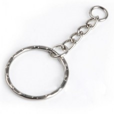 Keyring with Short Chain (Silver) (OEM)