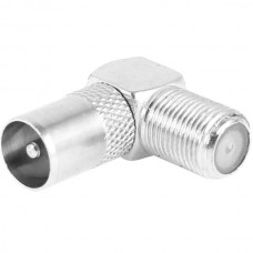 F Type Female to TV PAL Male Coax RF Adapter Conne...