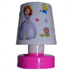 """Mini Bed/Desk Light Led """"Little Princesses"""" Pink Base (OEM)"""