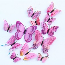 3D Butterfly Double Layer Wings Wall Sticker Magne...