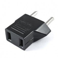Travel Plug Adapter Converter USA to EU (Black) (O...