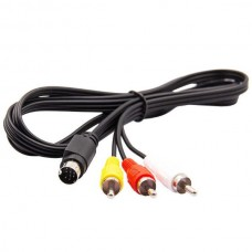 Composite Cable Audio Video 9 Pin S-Video to RCA f...