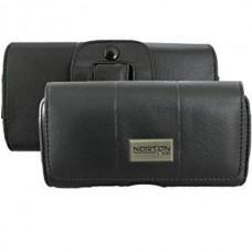 NORTONLINE Leather Case Pouch Flip Belt Clip Hip L...