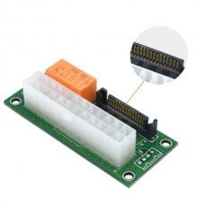 ATX 24 Pin Power Adapter to Molex 4 Pin SATA Dual ...