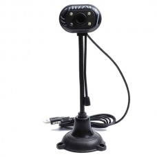Web Camera 0.3MP, 30fps With Microphone (Black/Whi...