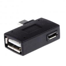 Left Angle Micro USB 2.0 OTG Converter 90ο Host A...