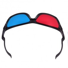 "Black Frame Red Blue Anaglyph 3D Glasses ""Mask Style"" (Black) (OEM)"