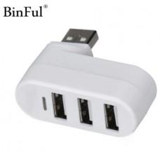 BINFUL Mini Rotate 180° USB Hub High Speed 3 Port...