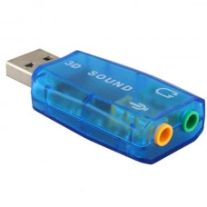 External USB Sound Card Audio Card Adapter 5.1 (Bl...