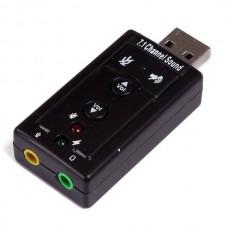 External USB Sound Card Audio Card Adapter 7.1 (Bl...