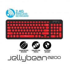 ALCATROZ JellyBean A200 Wireless Keyboard (US) (Black/Red)