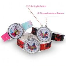 "Children's Watch with Multicolor Light ""Spiderman"" (Black) (OEM)"