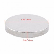 OLOEY Small Round Powerful Strong Magnetic Magnet N35 NdFeB (6mm x 1mm)