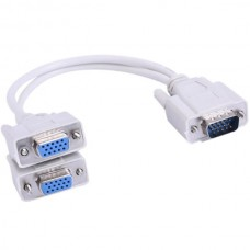 Y Splitter Cable VGA Male to Dual Female VGA (15 P...