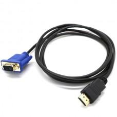 VGA Cable to HDMI HD 1080 Converter (1m) (Black/Bl...