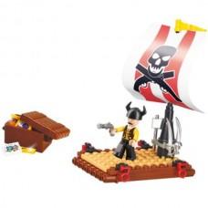 SLUBAN Building Blocks Pirate Raft M38-B0277 (64pc...