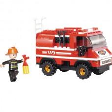 SLUBAN Building Blocks Fire Truck M38-B0276 (133pc...