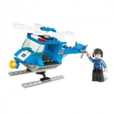 SLUBAN Building Blocks Police Helicopter M38-B0282...