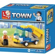 SLUBAN Building Blocks Dump Truck M38-B0178 (65pcs)