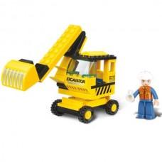 SLUBAN Building Excavator M38-B0176 (62pcs)