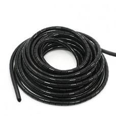Spiral Cable Wire Wrap Tube (4mm) (2.0m) (Black) (...