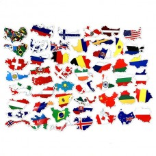 Countries National Flag Stickers (25pcs) (OEM)