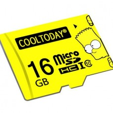 COOLTODAY Bart Simpson Micro SD (16GB) (Yellow)