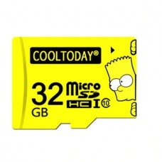 COOLTODAY Bart Simpson Micro SD (32GB) (Yellow)