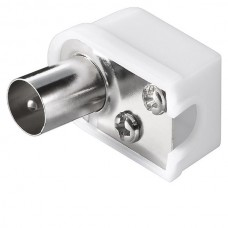 Coaxial Plug Male Connector 90 Degree UHF (White) ...