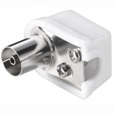Coaxial Plug Female Connector 90 Degree UHF (White...