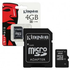 KINGSTON SDC10/4 Micro SD with Adapter Class 10 (4...