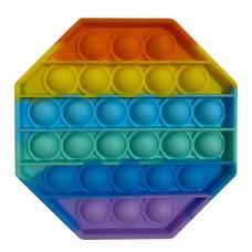 Pop it Fidget Toy (12.5x12.5x1.5cm) (Octagon) (Mul...