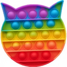 Pop it Fidget Toy (12.5x12.5x1.5cm) (Cat) (Multi-C...