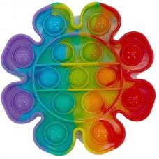 Pop it Fidget Toy (12.5x12.5x1.5cm) (Flower) (Mult...