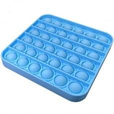 Pop it Fidget Toy (5.0x5.0x1.5cm) (Square) (Blue) ...