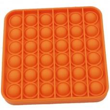 Pop it Fidget Toy (5.0x5.0x1.5cm) (Square) (Orange...