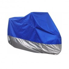 V-SMART Motorcycle Cover (232x100x125cm) (Blue/Sil...
