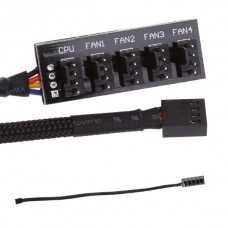 Cooling Fan Power Cable Hub Splitter 5 Port Fan 4 ...