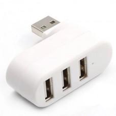 Mini Rotate 180° USB Hub High Speed 3 Ports Hub U...
