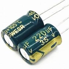 35V 220uF Electrolytic Aluminium Capacitor Low ESR...