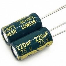 25V 220uF Electrolytic Aluminium Capacitor Low ESR...