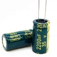 35V 2200uF Electrolytic Aluminium Capacitor Low ES...